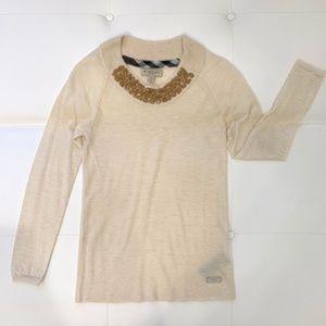 BURBERRY Alpaca Neck Detailed Sweater Sz M